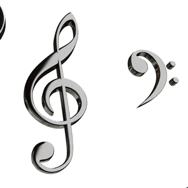 musical symbols 3d model 3ds max fbx obj 129910