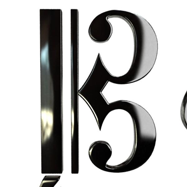 musical symbols 3d model 3ds max fbx obj 129915
