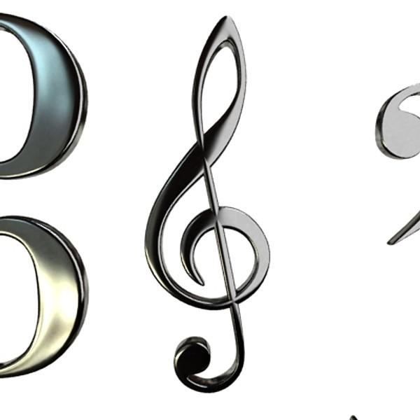 musical symbols 3d model 3ds max fbx obj 129916