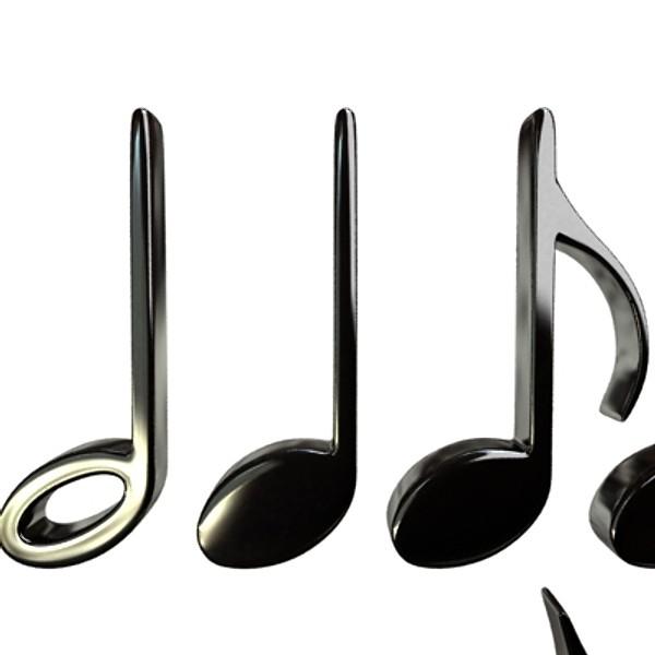 musical symbols 3d model 3ds max fbx obj 129918