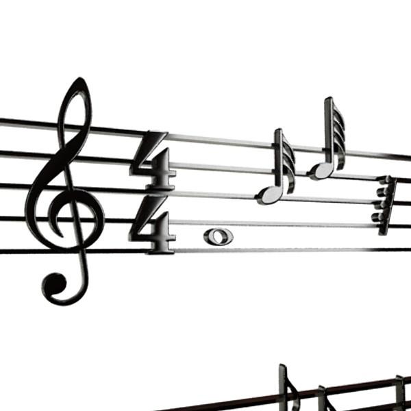 musical symbols 3d model 3ds max fbx obj 129920