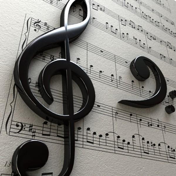 musical symbols 3d model 3ds max fbx obj 129921