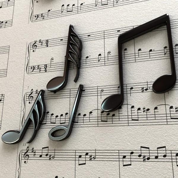 musical symbols 3d model 3ds max fbx obj 129922