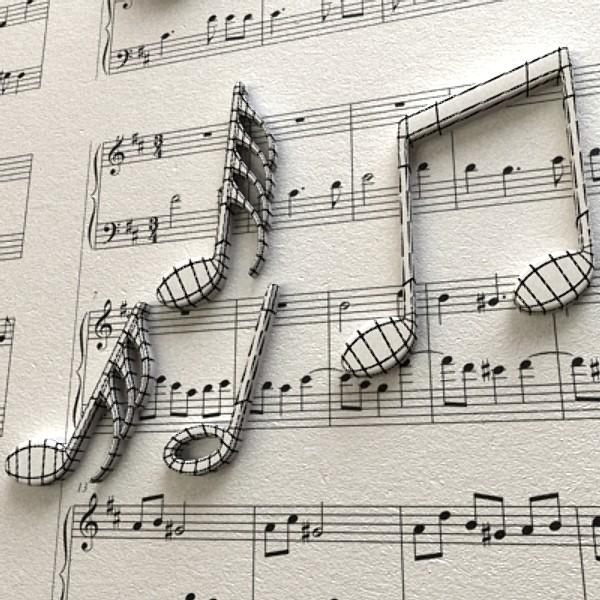musical symbols 3d model 3ds max fbx obj 129923