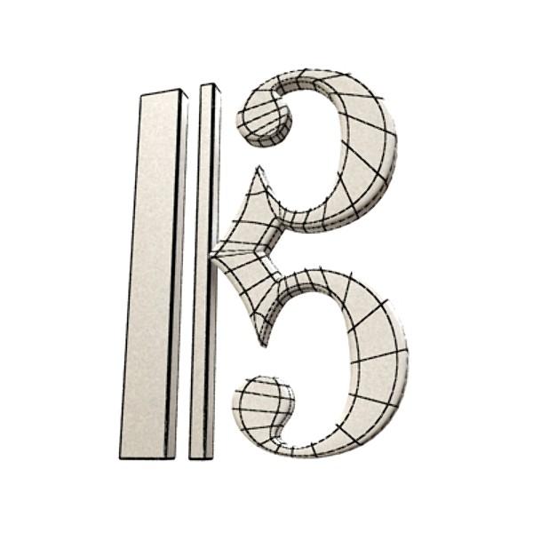 musical symbols 3d model 3ds max fbx obj 129925