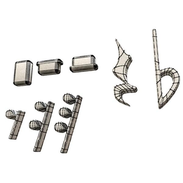 musical symbols 3d model 3ds max fbx obj 129926