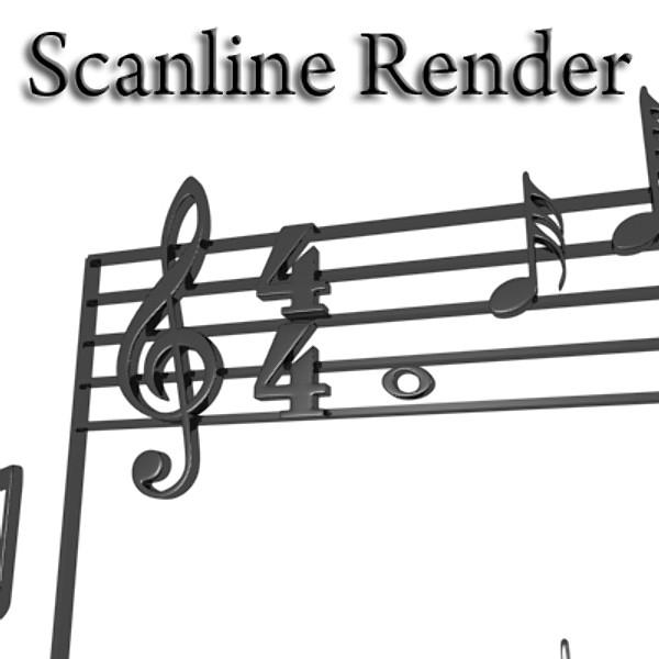 musical symbols 3d model 3ds max fbx obj 129928