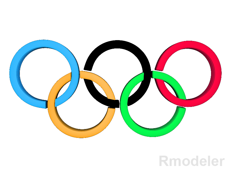 olympic 3d logo 3d model dae ma mb obj 118820