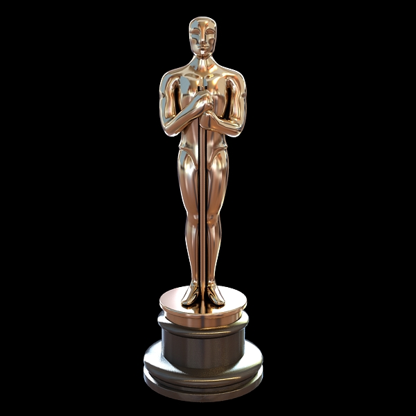 oscar academy award low poly 3d model 3ds max fbx obj 117751