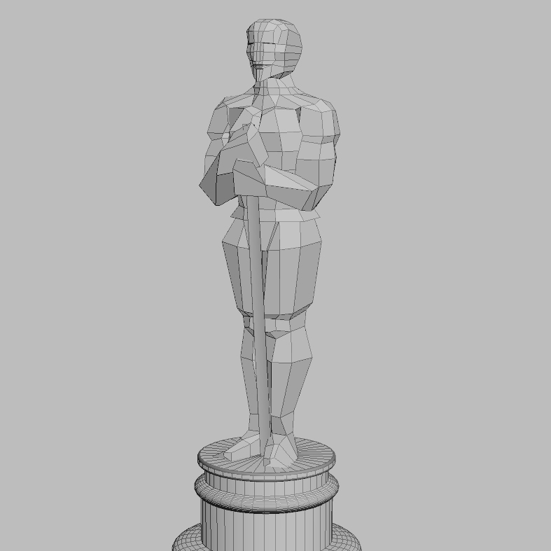 oscar academy award low poly 3d model 3ds max fbx obj 117754