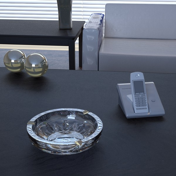 photorealistic ashtray high detail 3d model 3ds max fbx obj 129440