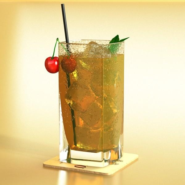 photorealistic detailed cocktail 3d model 3ds max fbx obj 129358
