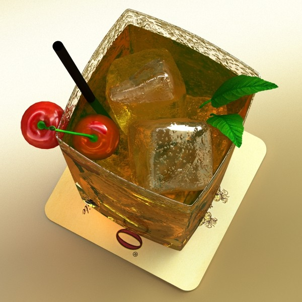 photorealistic detailed cocktail 3d model 3ds max fbx obj 129359
