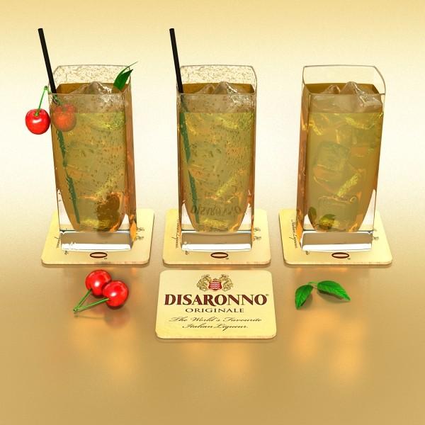 photorealistic detailed cocktail 3d model 3ds max fbx obj 129360