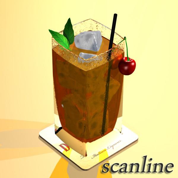 photorealistic detailed cocktail 3d model 3ds max fbx obj 129364