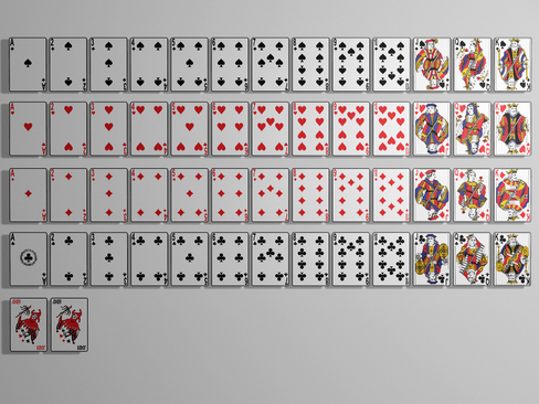 playing cards 3d model 3ds max c4d lwo ma mb obj 118708