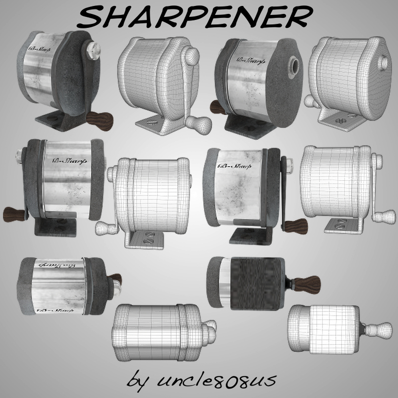 sharpener textures are included 3d model obj 160107