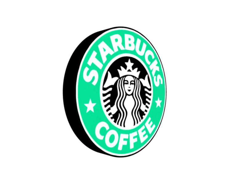 starbucks 3d logo 3d model 3ds fbx c4d lwo ma mb hrc xsi obj 122283