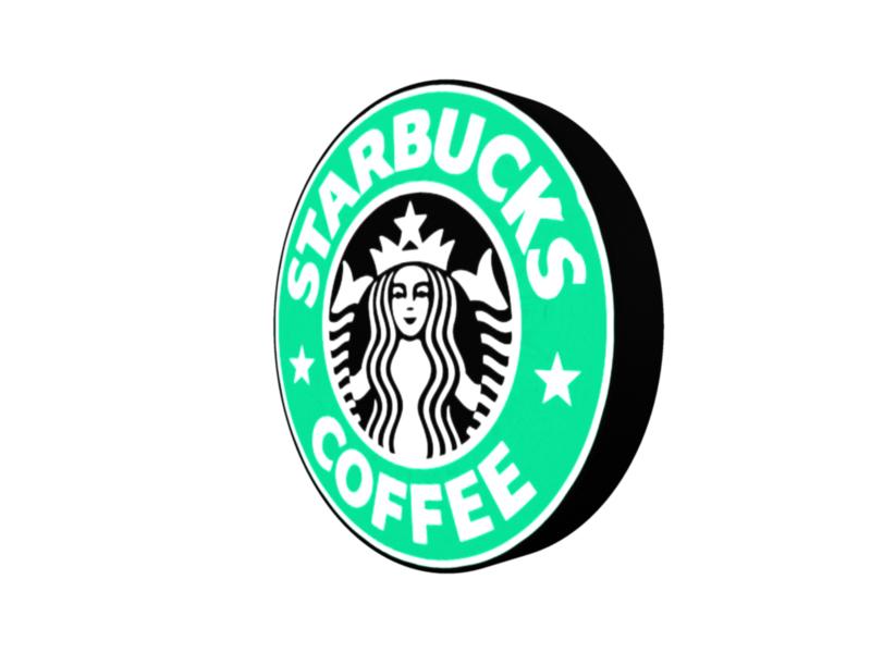 starbucks 3d logo 3d model 3ds fbx c4d lwo ma mb hrc xsi obj 122284