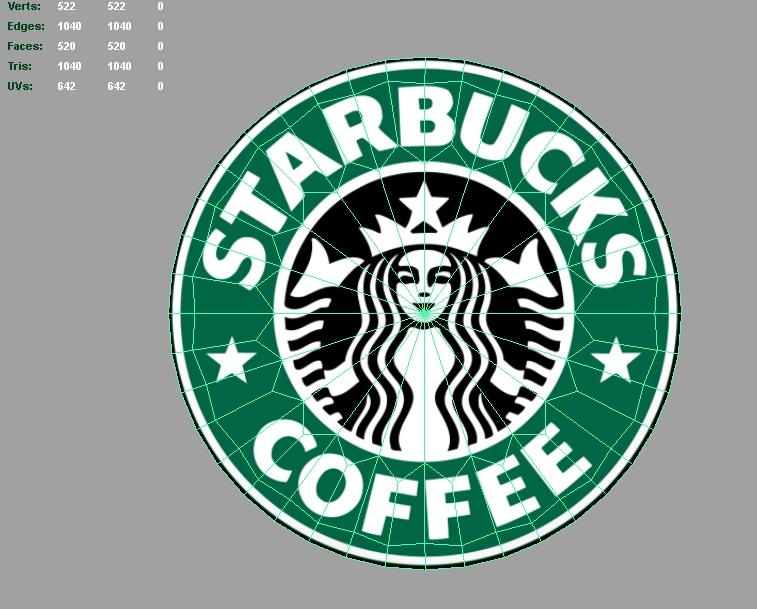 starbucks 3d logo 3d model 3ds fbx c4d lwo ma mb hrc xsi obj 122285