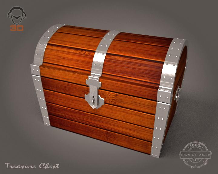 treasure chest 3d model 3ds max fbx obj 143464