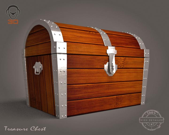 treasure chest 3d model 3ds max fbx obj 143465