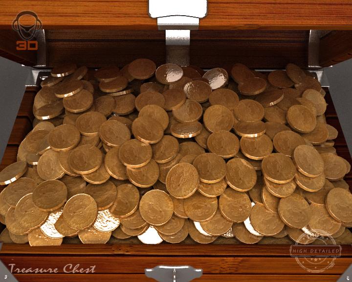 treasure chest 3d model 3ds max fbx obj 143466