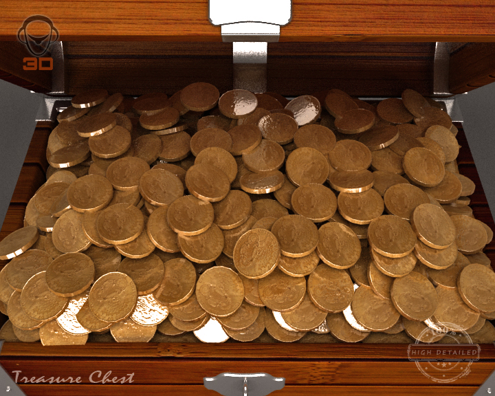 treasure chest 3d model 3ds max fbx obj 143467