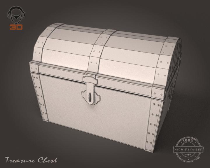 treasure chest 3d model 3ds max fbx obj 143468