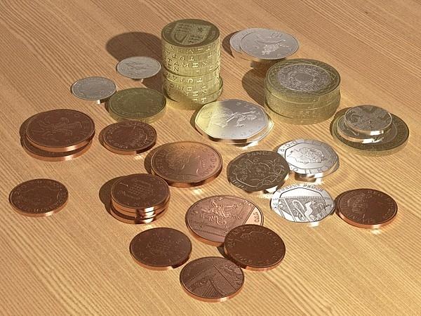 uk coins 3d model 3ds fbx skp obj 115029