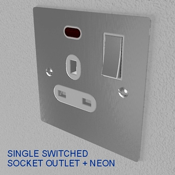 UK electrical switches & sockets pack - flush meta 3D Model – Buy UK ...