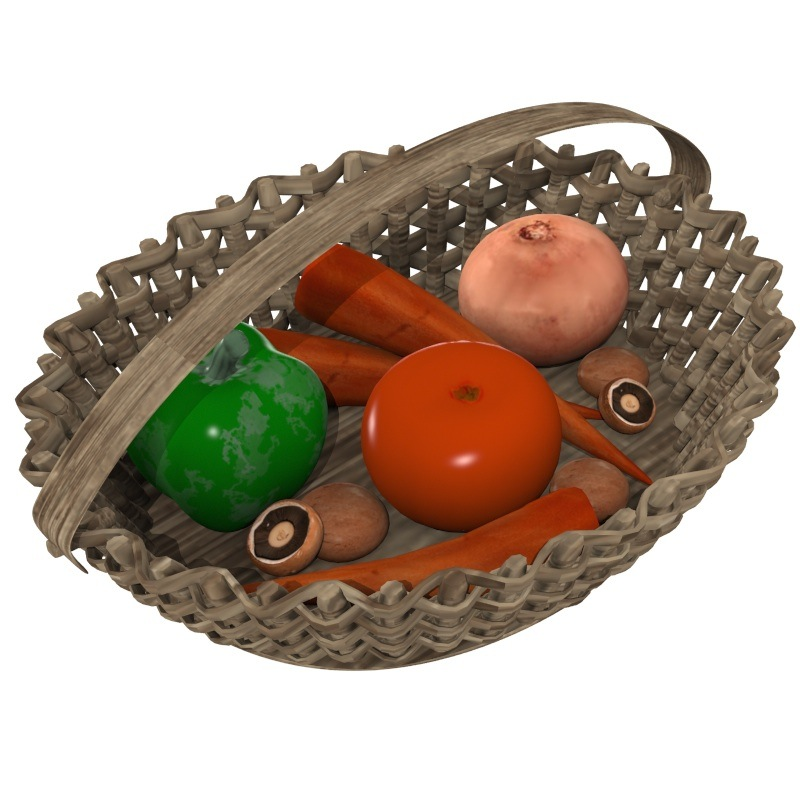 veggie basket 3d model obj 151824