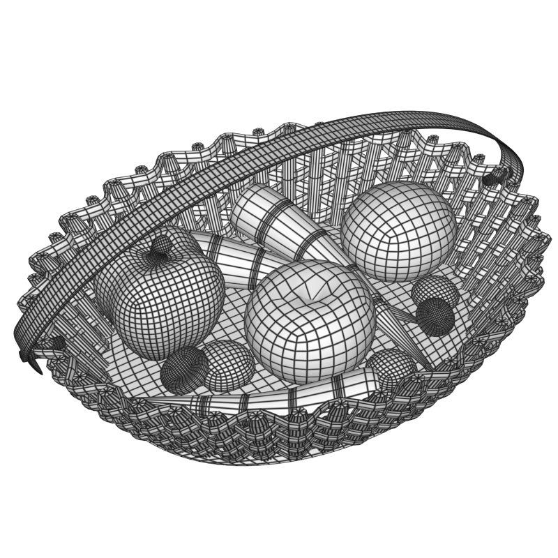veggie basket 3d model obj 151825