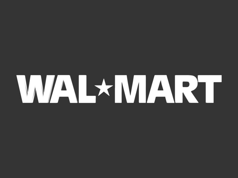 walmart 3d logo 3d model 3ds fbx c4d lwo ma mb hrc xsi obj 122286
