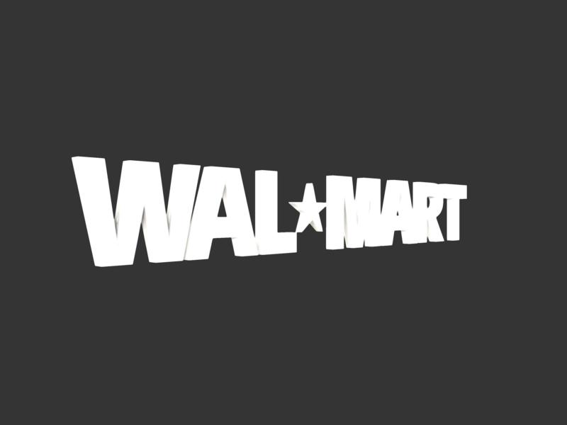 walmart 3d logo 3d model 3ds fbx c4d lwo ma mb hrc xsi obj 122287