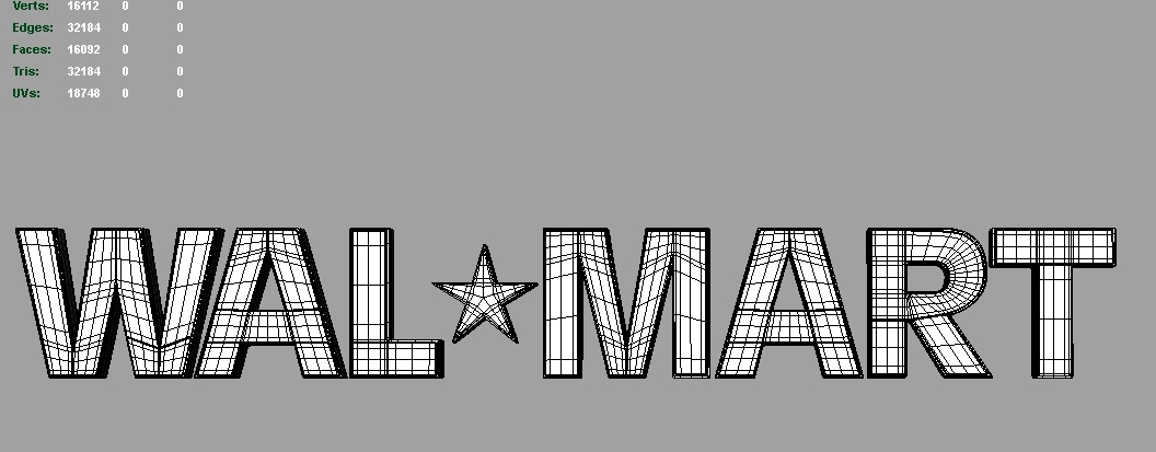 walmart 3d logo 3d model 3ds fbx c4d lwo ma mb hrc xsi obj 122289