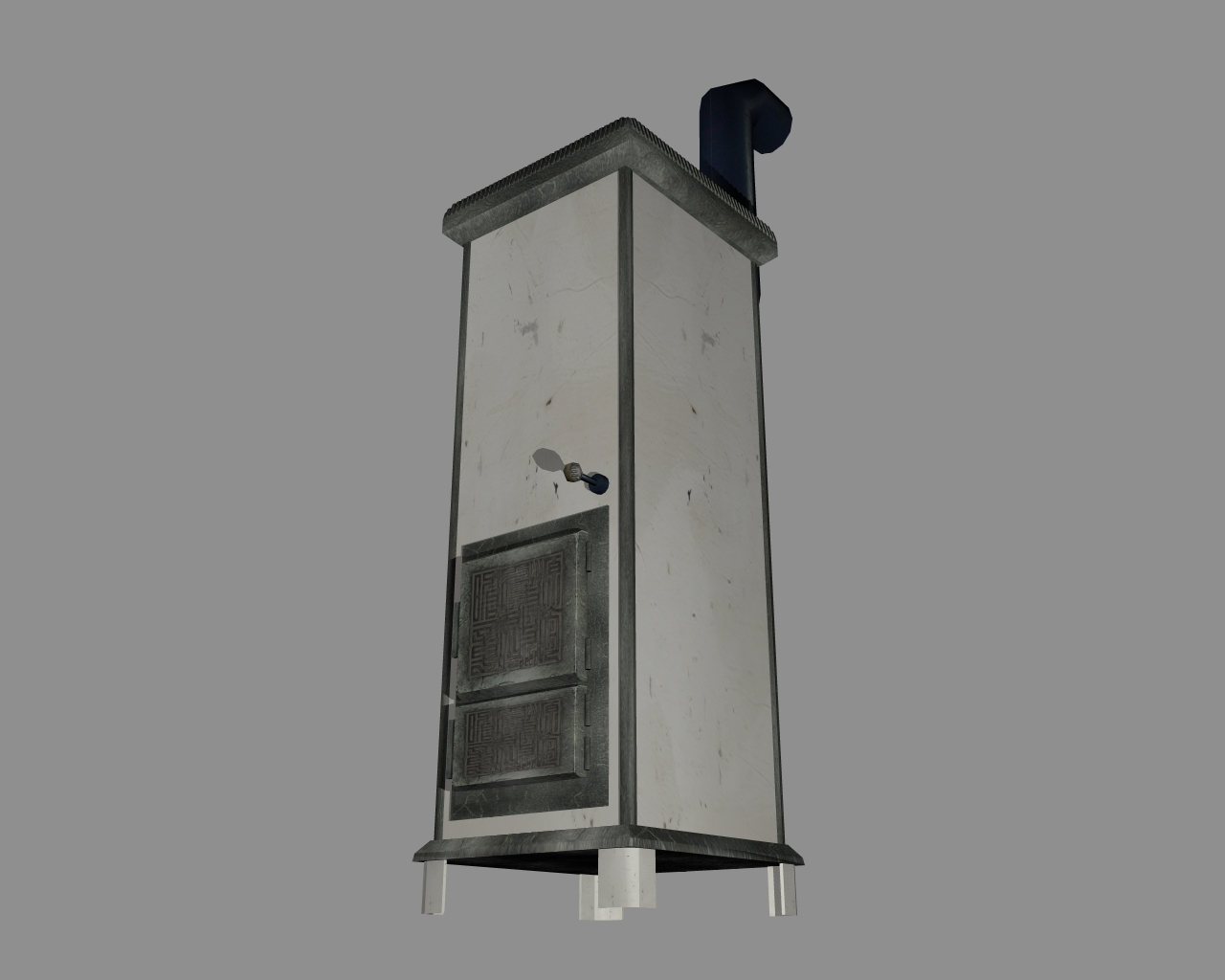 wood-burning stove 3d model 3ds 165898
