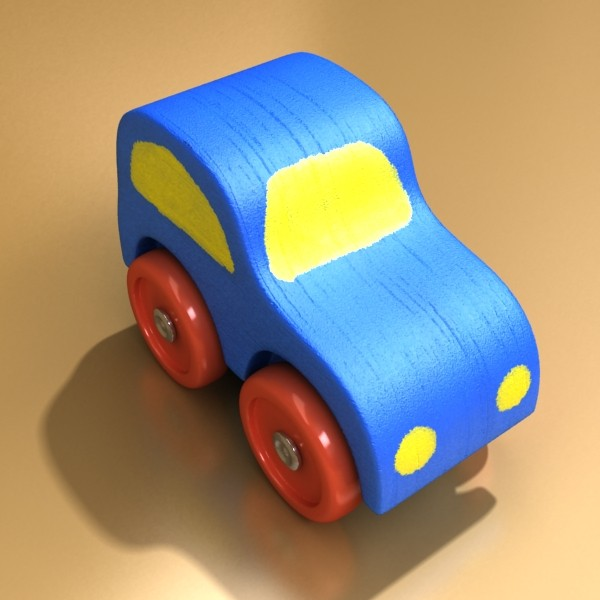 wooden toy car 3d model 3ds max fbx obj 129551