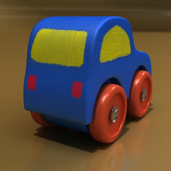wooden toy car 3d model 3ds max fbx obj 129552