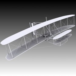 1903 Wright Flyer ( 186.1KB jpg by Plutonius )