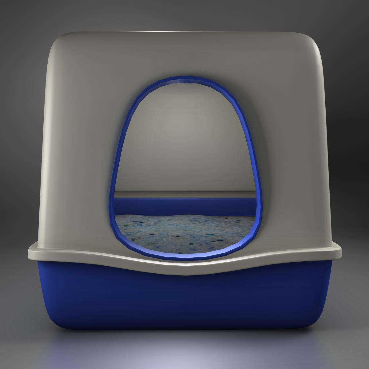 toilet cat 3d model 3ds max fbx c4d ma mb obj 159438