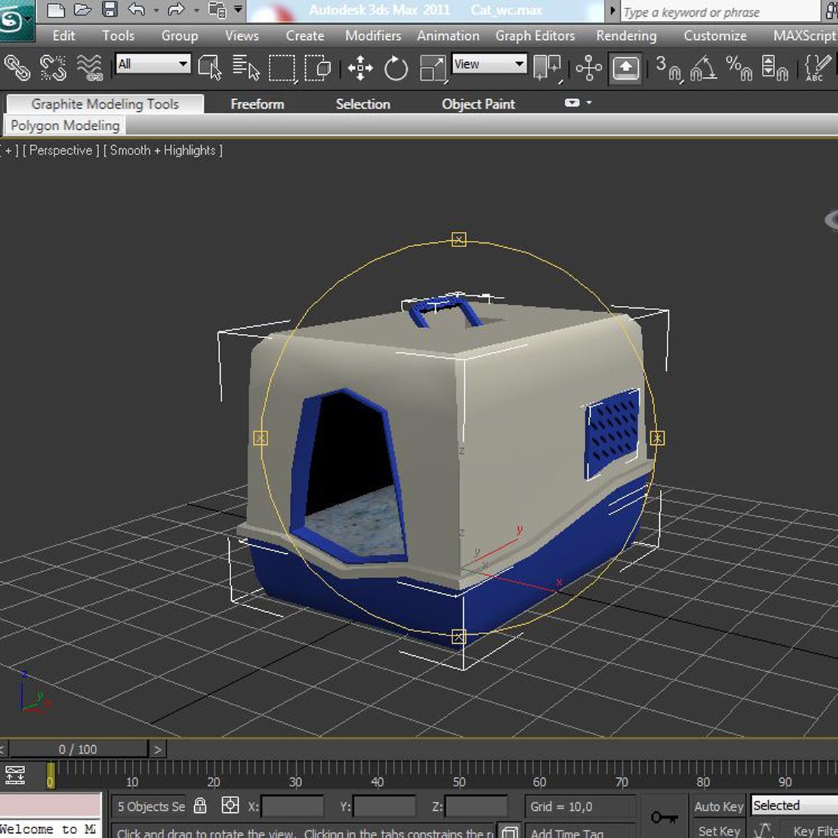 toilet cat 3d model 3ds max fbx c4d ma mb obj 159451