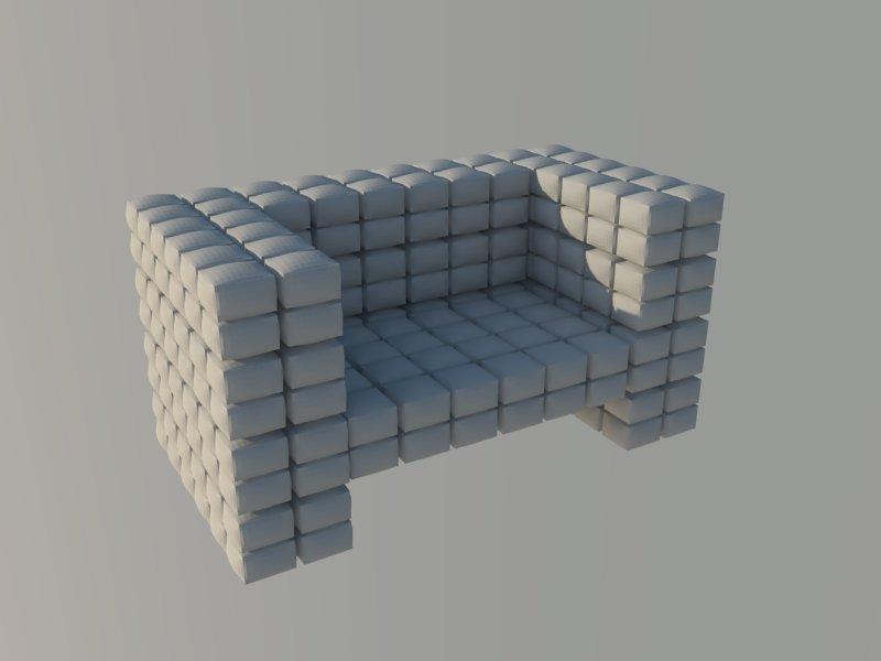 ērts krēsls augsts daudzstūris 3d modelis 3ds dxf dwg skp obj 118566