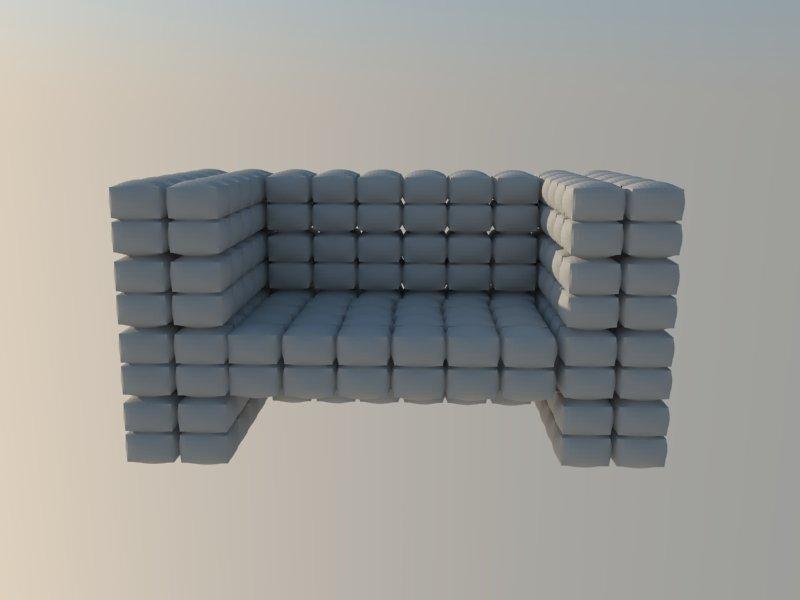 comfortable chair high polygonal 3d model 3ds dxf dwg skp obj 118567