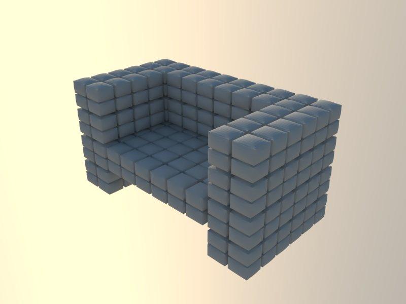 ērts krēsls augsts daudzstūris 3d modelis 3ds dxf dwg skp obj 118569