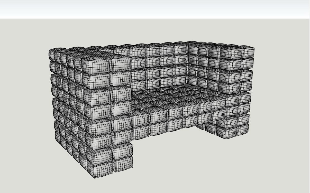 ērts krēsls augsts daudzstūris 3d modelis 3ds dxf dwg skp obj 118570