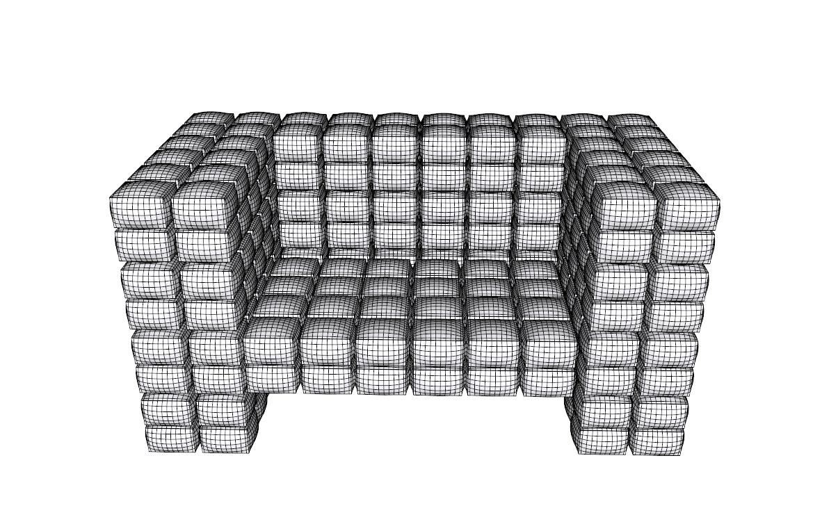ērts krēsls augsts daudzstūris 3d modelis 3ds dxf dwg skp obj 118571