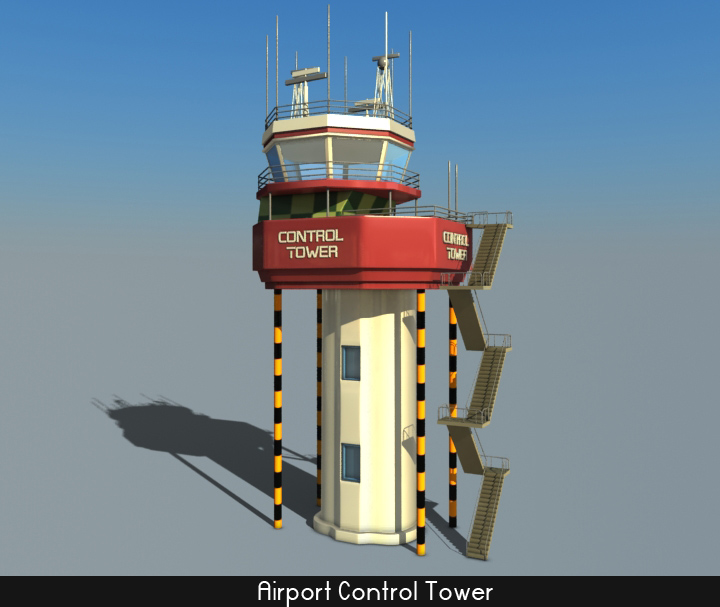 airport control tower 5 3d model 3ds max fbx obj 116792
