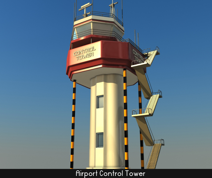 airport control tower 5 3d model 3ds max fbx obj 116793
