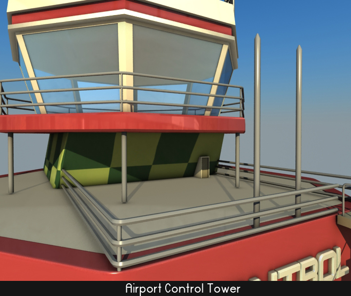 airport control tower 5 3d model 3ds max fbx obj 116794